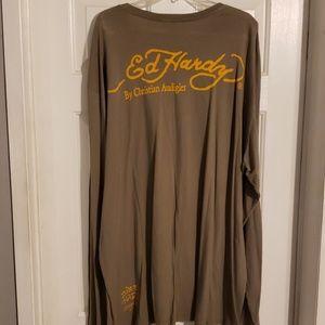 Ed Hardy Shirts - NWOT mens Long slave Ed Hardy T-shirt size 4X